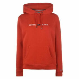 Tommy Jeans Clean Linear Hoodie - Red