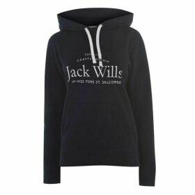 Jack Wills Hunston Logo Hoodie - Blue