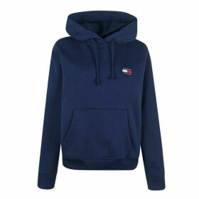 Tommy Jeans Badge Hoodie - Black Iris