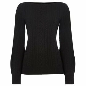 Lauren by Ralph Lauren Yorka balloon sleeve sweater - Black