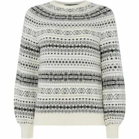 Lauren by Ralph Lauren Philantha patterned sweater - Cream