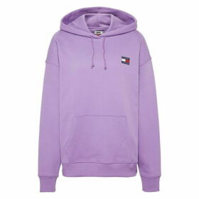 Tommy Jeans Hilfiger Badge Hoodie - Purple