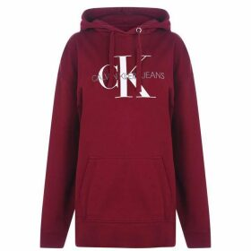Calvin Klein Jeans Washed Mono Hoodie - Beet Red