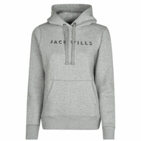Jack Wills Hunston OTH Hoodie Ladies - Grey Marl