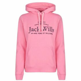 Jack Wills Hunston Embroidered Graphic Hoodie - Pink