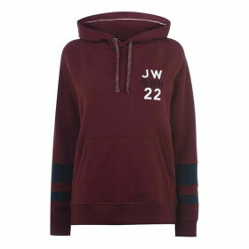 Jack Wills Hazelmere Classic Back Graphic Hoodie - Red