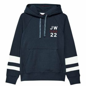Jack Wills Hazelmere Classic Back Graphic Hoodie - Blue