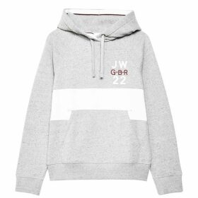 Jack Wills Hazelmere Classic Back Graphic Hoodie - Grey Marl