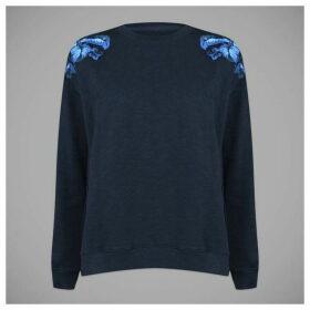 Jack Wills Stauntley Emroidered Boxy Sweatshirt - Blue
