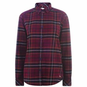 Jack Wills Ducklington Checked Slouchy Shirt - Plum
