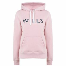 Jack Wills Reeman Mutli Coloured Graphic Hoodie - Pink