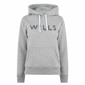 Jack Wills Reeman Mutli Coloured Graphic Hoodie - Grey Marl
