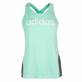 adidas Linear Loose Tank Top Ladies - Grey/Mint