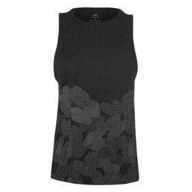 adidas Open Back Tank Top Ladies - Black