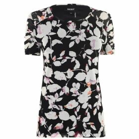 DKNY DKNY Mesh Ruched Sleeve Shirt - Multi