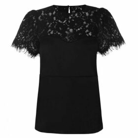 Guess Short Sleeve Lily Top - Jet Black A996