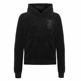 Juicy Couture Velour Pullover Hoodie - Black
