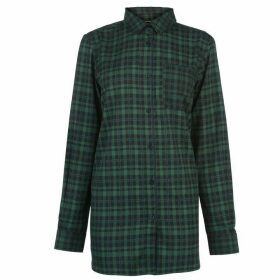 Kangol Long Sleeve Check Shirt Ladies - Green/Black