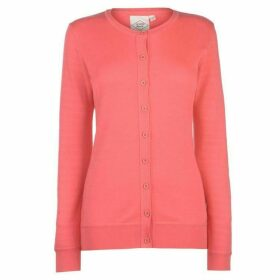 Lee Cooper Soft Crew Cardigan Ladies - Melon Red