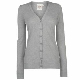 Lee Cooper Soft Knit Cardigan Ladies - Light Grey