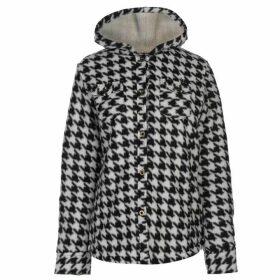 Lee Cooper Fleece Lined Shirt Ladies - Black/White