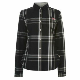 Lee Cooper Long Sleeve Check Shirt Ladies - Black/Grey