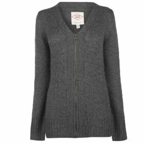 Lee Cooper Essential Long Cardigan Ladies - Charcoal