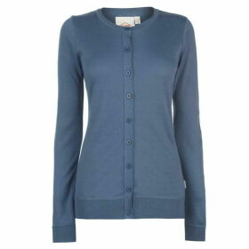 Lee Cooper Soft Crew Cardigan Ladies - Silver Grey