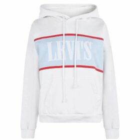 Levis Cameron Hoodie - White/Baby Blue