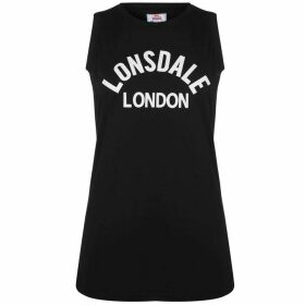 Lonsdale Long Line Tank Top Ladies - Black