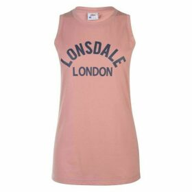 Lonsdale Long Line Tank Top Ladies - Blush Rose