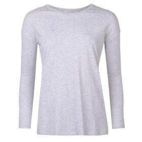 Miso Long Sleeve Oversized T Shirt Ladies - Grey