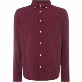 Penguin Gingham Nep Shirt - Nepped Berry Red