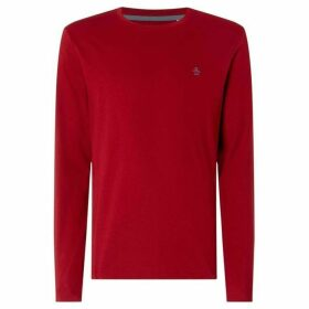Penguin Pin Point Red Long Sleeve Shirt - Red