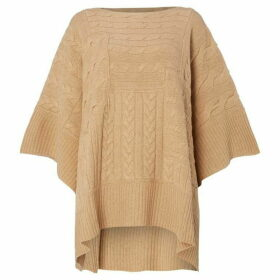 Polo Ralph Lauren Cable Knit Poncho - Beige