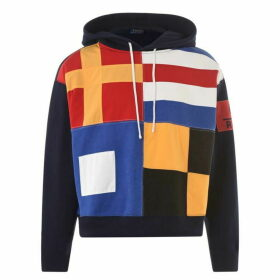 Polo Ralph Lauren Long Sleeve Flag Print Hoodie - Navy