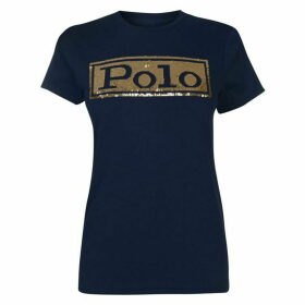 Polo Ralph Lauren Sequin Logo T-Shirt - Navy