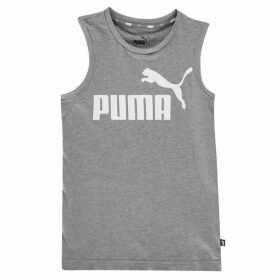 Puma No1 Sleeveless T Shirt Junior - Med Grey