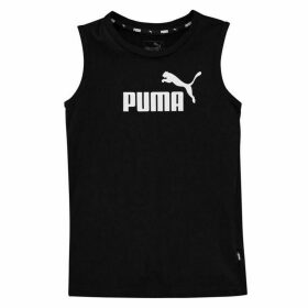 Puma No1 Sleeveless T Shirt Junior - Black/White