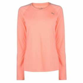 Puma Long Sleeve Workout T Shirt Ladies - Bright Peach