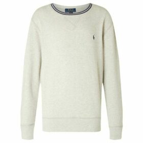 Ralph Lauren Crew Neck With Tipped Collar - Grey Marl