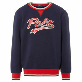Ralph Lauren Large Polo Logo Baseball Crew Neck - Navy
