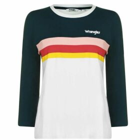 Wrangler Rainbow T Shirt - Cloud Blue