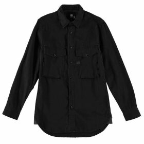 G Star Type C Straight Long Sleeve Shirt - dk aged