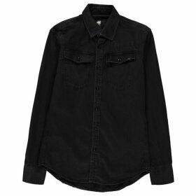 G Star 3301 Long Sleeve Shirt - black
