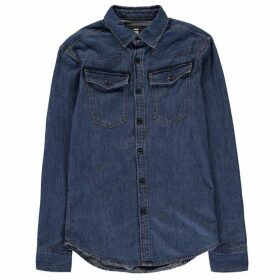 G Star 3301 Long Sleeve Shirt - medium indigo a