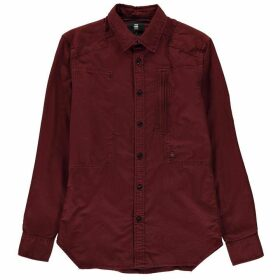 G Star Powel Long Sleeve Shirt - dk bordeaux