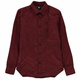G Star Powel Long Sleeve Shirt - dk bordeaux