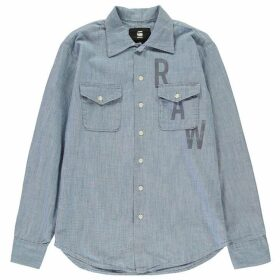 G Star Raw Utility Long Sleeve Shirt - lt aged