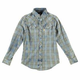 G Star Tacoma Long Sleeve Shirt - indigo/dk bronz